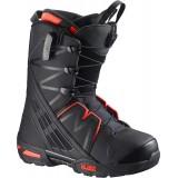 Ботинки сноубордические SALOMON MALAMUTE BLACK/NEON RED/BK