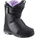 Ботинки сноубордические SALOMON MOXIE BLACK/Lilac/BLACK