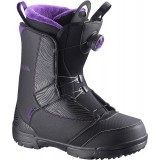Ботинки сноубордические SALOMON PEARL BOA BLACK/GRJ/BK