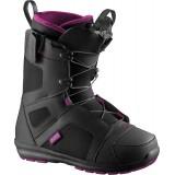 Ботинки сноубордические SALOMON SCARLET BLACK/MYSTIC PUR/BK