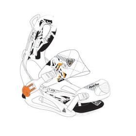 Комплект креплений для сноуборда Black Fire Step FT Lux white