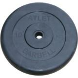 Диск обрезиненный BARBELL Atlet 26 мм 10 кг