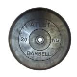 Диск обрезиненный BARBELL Atlet 26 мм 20 кг