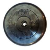 Диск обрезиненный BARBELL Atlet 26 мм 25 кг