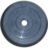 Диск обрезиненный BARBELL Atlet 26 мм 5 кг