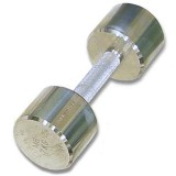 Гантель хромированная для фитнеса 10 кг BARBELL MB-FitM-10