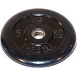 Диск обрезиненный BARBELL  26 мм 5 кг