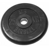 Диск обрезиненный олимпийские BARBELL 51 мм 25 кг