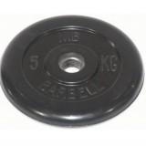 Диск обрезиненный олимпийские BARBELL 51 мм 5 кг