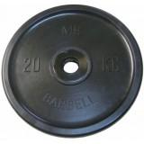 Диск Евро-классик BARBELL 51 мм 20 кг